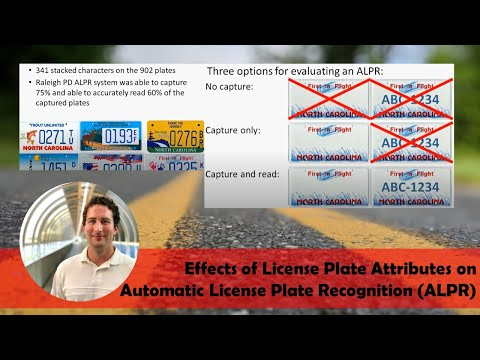 Effects of License Plate Attributes on Automatic License Plate Recognition (ALPR)