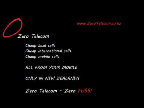 ZeroTelecom cheap calls NZ prepaid mobile phone voip international calling cards NZ
