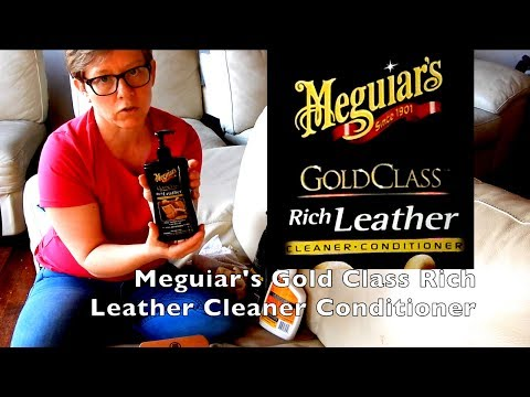Clean Leather Sofa Couch with Meguiar's Gold Class Rich Leather Cleaner Conditioner