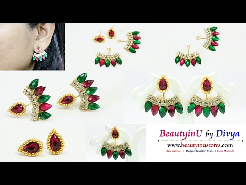 How to make Ear Jacket Earrings // Designer Earrings // Paper Earrings // DIY