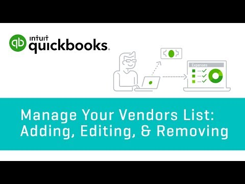 How to Manage Your Vendors List: Adding, Editing, & Removing   QuickBooks Online Tutorial 2018
