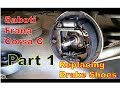 Schimbare Saboti Frana Opel Corsa C -- Brake Shoes Replacement  PART 1