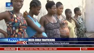 Police Parade Suspected Baby Factory Syndicates In Delta