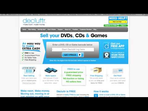 Make Money Selling Crummy Used CDs & DVDs on Decluttr.com