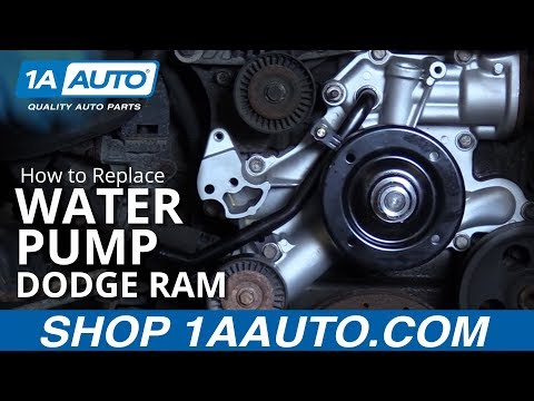 How to Install Replace Water Pump 2008 Dodge Ram 5.7L BUY QUALITY AUTO PARTS AT 1AAUTO.COM