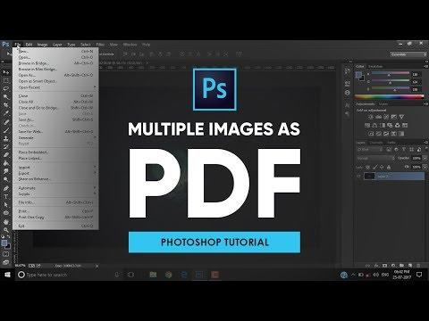 Export Multiple Images as PDF | Photoshop Tutorial