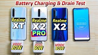 Realme X2 Pro Vs Realme X2 Vs Realme XT Battery Fast Charging & Drain Test