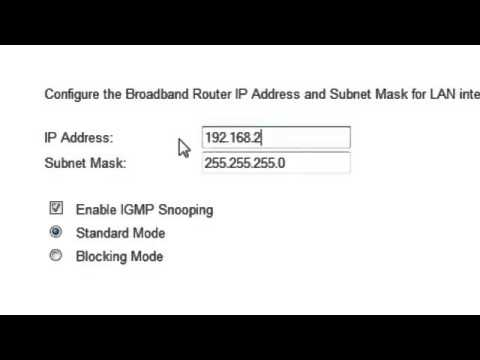 LAN Settings in PTCL Tenda W150D Modem on Vimeo clip8
