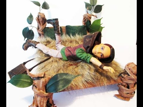 How to make a Hunter Huntsman Doll Bed Tutorial/ Ever After High