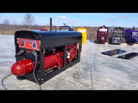 Lincoln welder SA200 1963 Red/Blue Face Diesel 31inch tall For sale