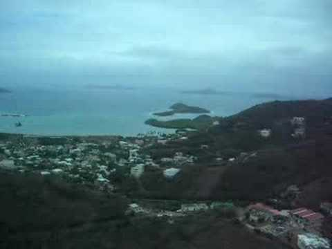 Low approach and landing into Tortola airport
