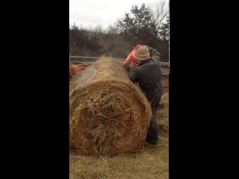 Chainsaw Hay Bale