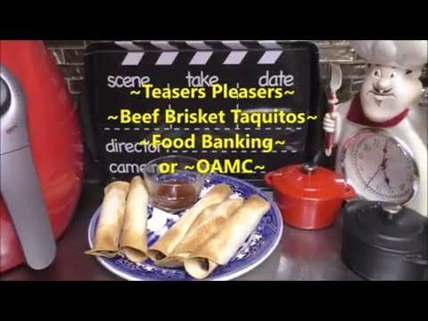 ~Beef Brisket Taquitos~
