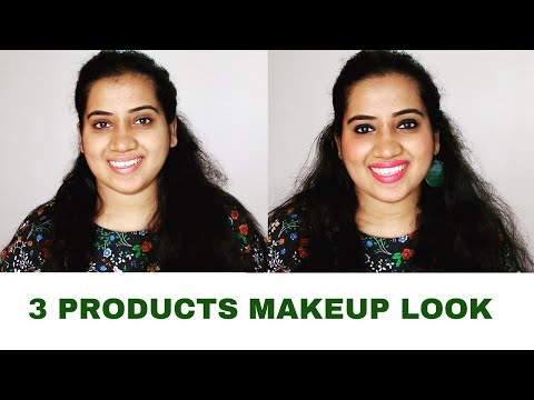 JUST 3 PRODUCTS MAKEUP LOOK IN 2 MINUTES