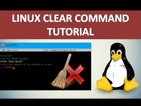 Linux clear screen command tutorial