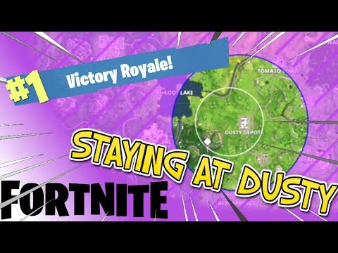 Fortnite Win (but I stay at Dusty Depot the whole game)