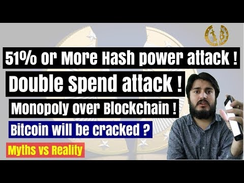 51%  ( majority )  hash power attack in bitcoin ! what is double spend ? monopoly of blockchain