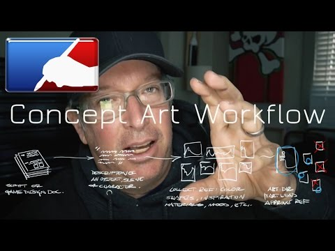 Concept Art Workflow, from script to final.