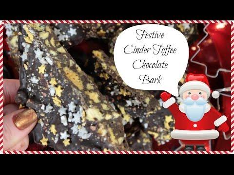 Festive Cinder Toffee Chocolate Bark   YUMMY VEGAN