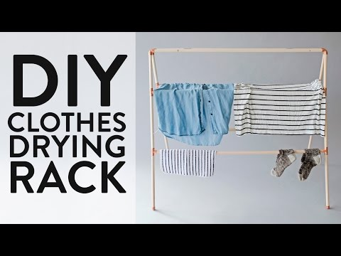 Make This: DIY Clothes Drying Rack