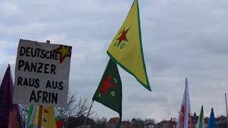 Erdogan Stoppen - Afrin Verteidigen! Mobi-video Zur Demonstration In Stuttgart