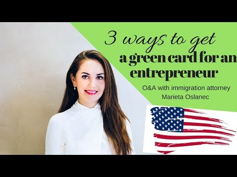 3 WAYS TO GET A GREEN CARD TO THE USA FOR AN ENTREPRENEUR 🇺🇸✔️