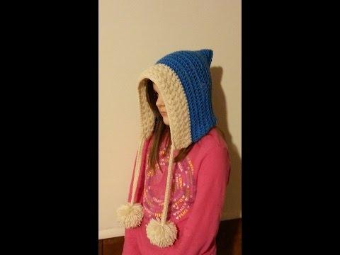 CROCHET How to #Crochet Frozen Inspired Hood Child or Adult #TUTORIAL #190 LEARN CROCHET