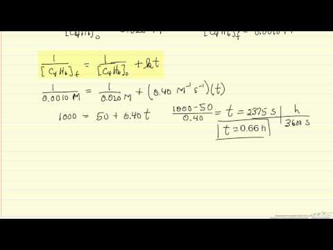 Kinetics: Reaction Time (Example)