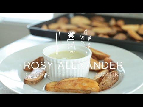 Crispy Potato Wedges & Roasted Pepper Aioli