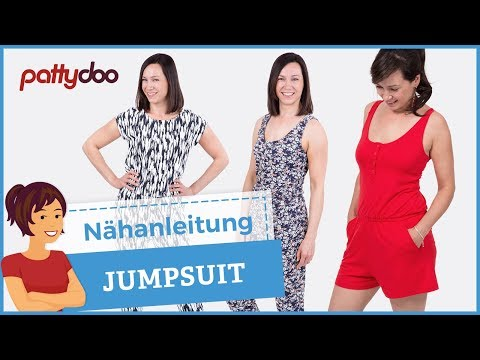 Jumpsuit/ Overall/ Playsuit aus Jersey nähen - mit Passe, S