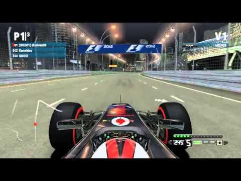F1 2012 PC, TT + setup Singapore (Marina Bay) 1:37.741, control xbox 360