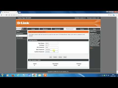 How to change D-Link router's wifi password | How to change dlink router password 2017