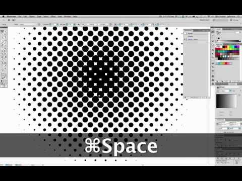 Illustrator Tutorial - Vector Halftone Effect (no plugins, no Photoshop)