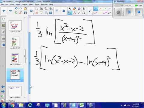 Logarithms 5 5 #53 complex expanding
