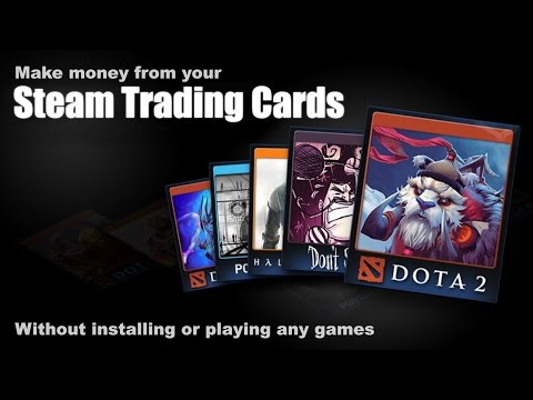 Make money from Steam trading cards