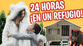 24 HORAS en una CABAÑA NATURAL en el BOSQUE // Escondite secreto FAMILUKIS
