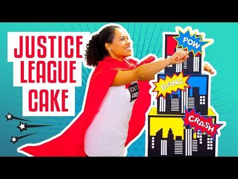 How To Make A JUSTICE LEAGUE Superhero-Inspired Birthday CAKE | Yolanda Gampp | How To Cake It