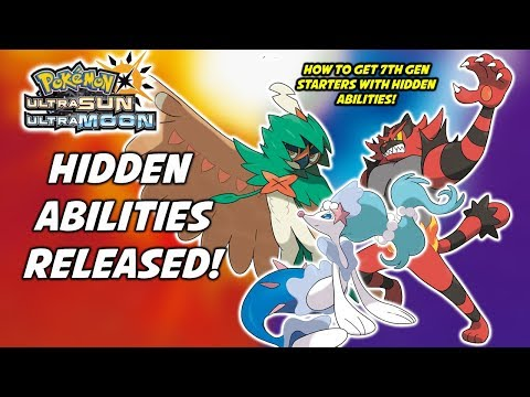 How to Get Alola Starters with Hidden Abilities! Pokemon Ultra Sun and Ultra Moon