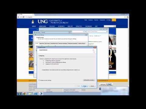 HOWTO: Connect Your UNG Student Email to Outlook 2013
