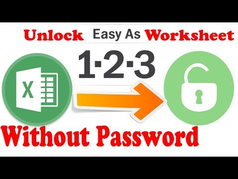 Unprotect Excel : Unlocking Excel Sheet Without Password 100%