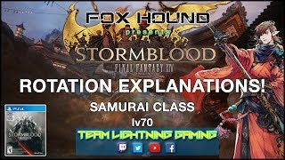 FFXIV Samurai 1-Sen Opener + Full Rotation w/ Commentary - S