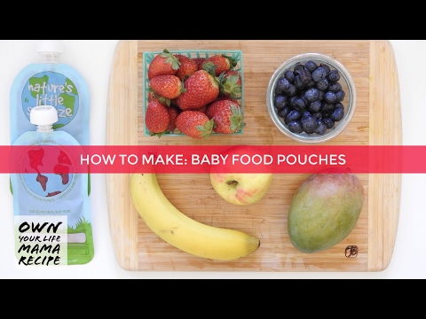 How to Make Homemade Baby Puree Pouches | 6 months | Kids Smoothie