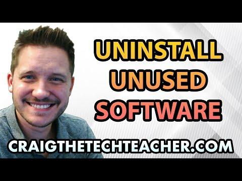 How To Uninstall Unused Windows 7 Software Programs - Ep. 28