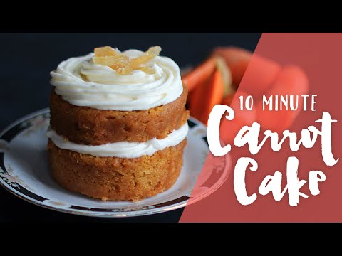 10 Minute Carrot Cake Mug Cake - Made in the Microwave! Ep. 3