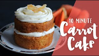 10 Minute Carrot Cake Mug Cake Made In The Microwave Ep 3