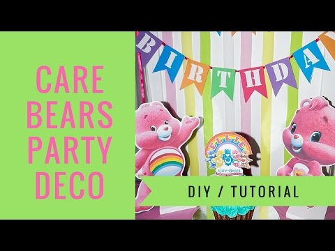 CARE BEARS TABLE DECORATIONS | HOW TO MAKE DIY