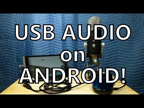 USB Audio FINALLY Works on Android! (Recording Test - Shield Tablet Running Lollipop)