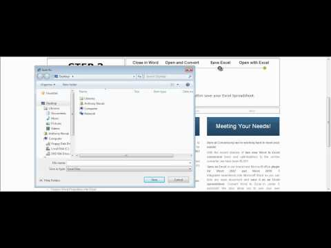 Convert Word to Excel Online Demonstration