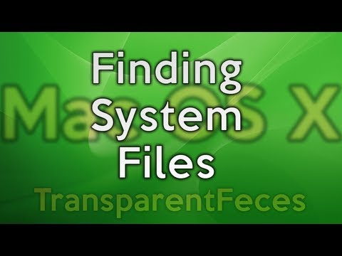 Mac OS X - Use Finder to find System files