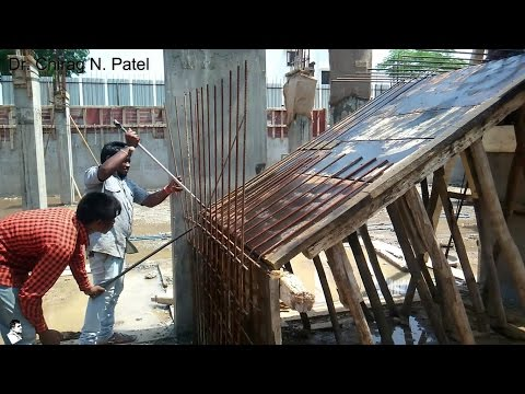 Rebar / Reinforcement for Staircase I Installation of Steel Reinforcement I On Site Construction